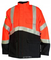 Blouson de travail multirisques HV orange fluo/gris anthracite Cepovett ( ATEX)