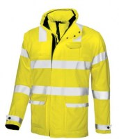 PARKA ANTI PLUIE DE TRAVAIL GLOW YELLOW FLUO U-POWER HI-LIGHT