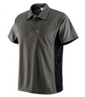 POLO GRIS-NOIR POLYESTER GB DRY Soluprotech