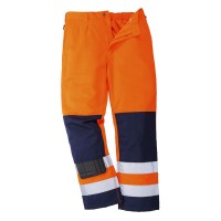 Pantalon de travail Hi-Vis Seville orange / marine PORTWEST