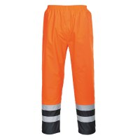 Pantalon HiVis Bicolore orange / marine PORTWEST