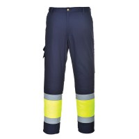 Pantalon Combat HiVis bicolore orange / marine PORTWEST