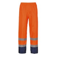 Pantalon de pluie Hi-Vis Bicolore orange / Marine PORTWEST