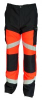 Pantalon de travail SILVER TECH 260 orange fluo/gris charcoal Cepovett ( ATEX )