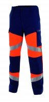 Pantalon de travail SILVER TECH 260 orange fluo/marine Cepovett ( ATEX )