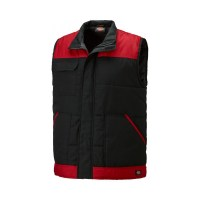 Gilet de Travail Dickies BODYWARMER EVERYDAY Sans Manches BW24/7 Noir/Rouge