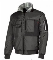 BLOUSON BOMBER DEPERLANT DE TRAVAIL BUDDY BLACK CARBON U-POWER HAPPY