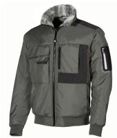 BLOUSON BOMBER DEPERLANT DE TRAVAIL GREY GRAPHITE CARBON U-POWER HAPPY