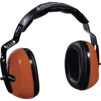 Casque antibruit SNR 29 DB orange Delta plus