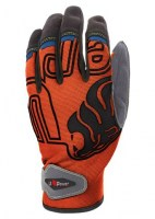 GANTS TECHNIQUE DE TRAVAIL BIKER ORANGE FLUO U-POWER GP