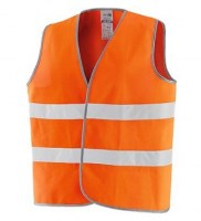 GILET ORANGE POLYESTER NEW WAY Soluprotech