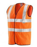 GILET ORANGE POLYESTER WE 5-A Soluprotech