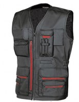 GILET MULTIPOCHES DE TRAVAIL FUN BLACK CARBON U-POWER HAPPY