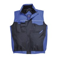 Gilet de travail Bodywarmer RS bicolore marine / royal  PORTWEST
