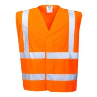 Gilet Hivis résistant à la flamme orange PORTWEST