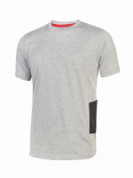 Lot de 3 T-SHIRT MANCHES COURTES DE TRAVAIL U-POWER ROAD Grey Silver, UPO-EY138GS