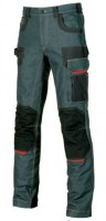 PANTALON JEAN STRETCH DE TRAVAIL PLATINIUM BUTTON RUST JEAN U-POWER EXCITING
