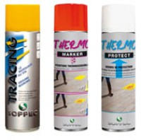 PEINTURE THERMOSENSIBLE EN CAS DE GEL THERMOKIT ( 1 thermoprotect + 1 thermomarker + 1 tracing jaune 500ml ) SOPPEC