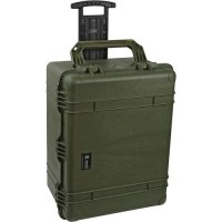 PELICASE 1650 TROLLEY OD VERT avec mousse Soluprotech
