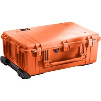 PELICASE 1650 TROLLEY ORANGE avec mousse Soluprotech