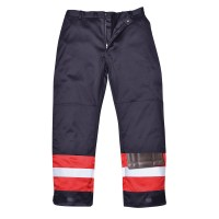 Pantalon bicolore antistatique marine / royal PORTWEST