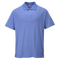 Polo antistatique ESD bleu hopital PORTWEST