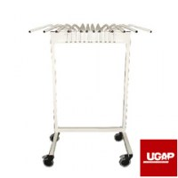 Supports pour tabliers plombés de protection radiologique anti-x SUPPORT MOBILE 6 TABLIERS SOLUPROTECH