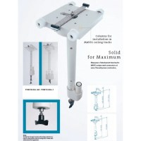 Suspensions et bavolets protection radiologique colonne portegra 2 mobile L460mm soluprotech
