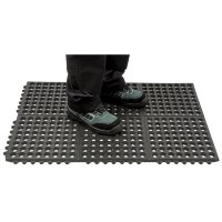 Tapis anti-fatigue haute résistance noir PORTWEST