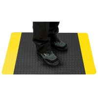 Tapis anti-fatigue noir liseré jaune PORTWEST
