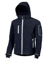 VESTE SOFT SHELL DE TRAVAIL METROPOLIS DEEP BLUE U-POWER DON'T WORRY