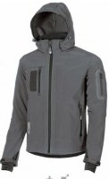 VESTE SOFT SHELL DE TRAVAIL METROPOLIS GREY METEORITE U-POWER DON'T WORRY
