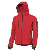 VESTE SOFT SHELL DE TRAVAIL METROPOLIS RED MAGMA U-POWER DON'T WORRY