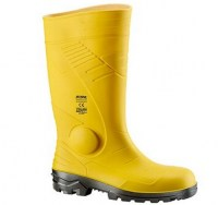 botte jaune de protection en PVC