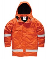 Parka Dickies Pyrovatex Ignifugé Antistatique Orange