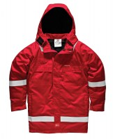 Parka Dickies Pyrovatex Ignifugé Antistatique Rouge