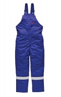 Salopette Dickies Ignifugé Pyrovatex Antistatique Bleu Roi