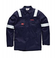 Veste de protection Dickies Aramid Antistatique 210 gsm Marine