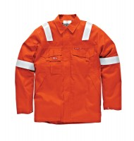 Veste de protection Dickies Aramid Antistatique 210 gsm Orange