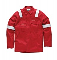 Veste de protection Dickies Aramid Antistatique 210 gsm Rouge