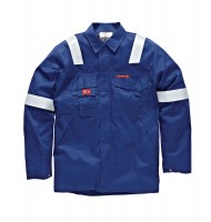 Veste de protection Dickies Aramid Antistatique 210 gsm Bleu Roi